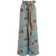 We Are Kindred Gabriella Brocade Palazzo Pant (4 300 SEK) ❤ liked on Polyvore featuring pants, blue palazzo pants, palazzo trousers, wide-leg pants, palazzo pants and wide leg palazzo trousers