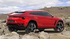 Lamborghini Urus  Need a vehicle that will fit the entire family inside, and still leave the average sports car in the dust? The Lamborghini Urus – an SUV to be unveiled at the Beijing Motor Show in a few days – is it.
