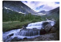 Lunch Creek Cascades, Glacier National Park, Montana http://www.explosionluck.com/products/lunch-creek-cascades-glacier-national-park-montana
