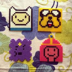 Adventure Time hama beads by dementhea