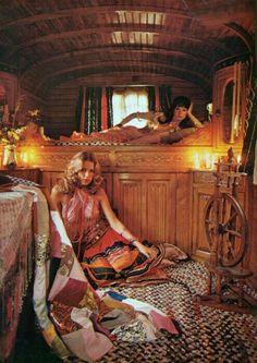 Gypsie's Caravan interior