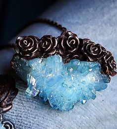 A personal favorite from my Etsy shop https://www.etsy.com/listing/462115030/authentic-aqua-aura-crystal-embellished