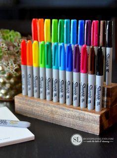 DIY Sharpie Marker Organizer