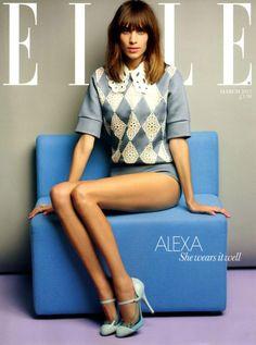 Alexa Chung. Floral Style, Girl Fashion, Fashion Beauty, Moda Fashion, Icon Fashion, Editorial Fashion, Style Fashion, Spring Fashion, Magazine Covers