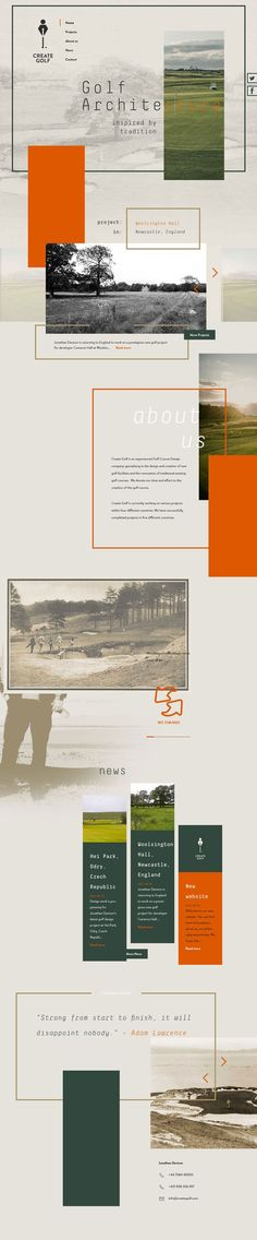 Create Golf Web Design