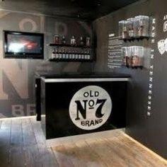cool jack daniels bar good for a man cave! Jack Daniels Decor, Jack Daniels Party, Jack Daniels Whiskey, Man Cave Garage, Bar Deco, Woman Cave, Man Cave Bar, Diy Bar, Game Room