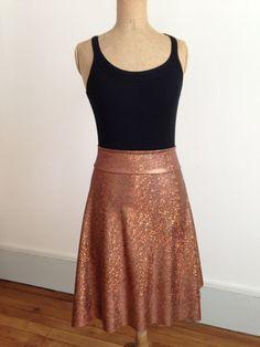 Stunning metallic copper tango skirt by BellaTango on Etsy