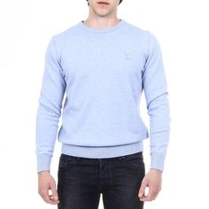 V 1969 Italia Mens Sweater Long Sleeves Round Neck