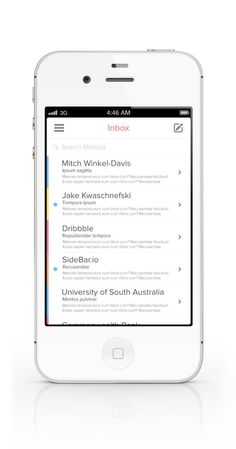 Inbox UI List Design