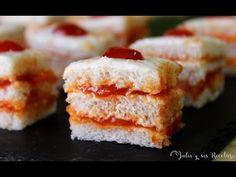 JULIA Y SUS RECETAS: Canapés de queso crema y mermelada de pimientos
