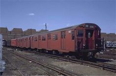 Red car at Coney Island yard New York Subway, Nyc Subway, Metropolitan Transportation Authority, Coney Island, Buses, My Images, New York City, Public, Yard