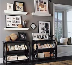 Love these for small bookshelves in our living room
