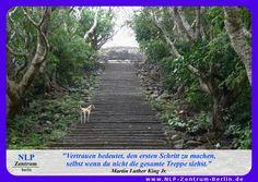 """""""Vertrauen bedeutet, den ersten Schritt zu machen, selbst wenn du nicht die gesamte Treppe siehst."""" - Martin Luther King Jr."""