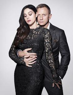 Original pic for GQ Magazine-November 2015-UK (Monica Bellucci and Daniel Craig)