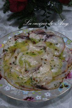 La cucina di Any: Carpaccio di spada affumicato marinato all'arancia - Carpaccio de peste spada afumat marinat in suc de portocale