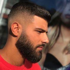 Medium Beard Styles, Faded Beard Styles, Beard Styles For Men, Hair And Beard Styles, Popular Mens Hairstyles, Mens Hairstyles With Beard, Boy Hairstyles, Haircuts For Men, Crew Cut Haircut