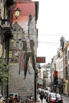 3d Street Art, Street Art Graffiti, Art Mural, Murals, Projection Mapping, Building Art, City Art, Land Art, Illustrations