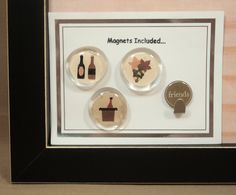 Magnetic Memo Board Dry Erase Memo Board Magnet Board-Framed-Wine Theme - includes matching magnets and key hook. $43.00, via Etsy.    Wonderful!