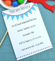 Free, Printable and Email Birthday Party Invitations: Free Birthday Party Invitations You Can Print