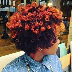 STYLIST SPOTLIGHT: such a vibrant thang! | styled by @deecarrington  #hair #hairinspiration #hairstylist #colorist #haircolor #cosmetologist #modernsalon #americansalon #behindthechair #thecutlife #curlbox #styleseat #style #beauty #model #instagood #inspo #instalove #haircut #naturalhairstylist #naturalhair #taperedcut
