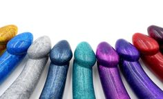 Good afternoon ;) we've collaborated with @godemiche.silicone again to make some more amazing sparkly dildos. You'll be able to find these on their website. They're the sparkliest dicks in town. #yummygummy #yummygummylatex #dildo #dick #pegging #sexual #sex #rainbow #glitter #glitterdicks #godemiche #silicone