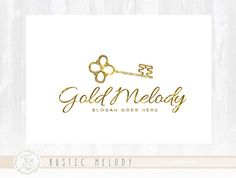 Key Logo Design Gold logo Photography Logo Design Boutique Logo  Decor Logo Design Watermark