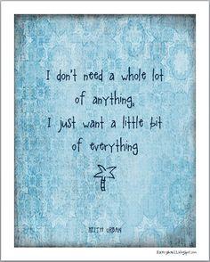 Keith Urban lyrics | Little Bit of Everything