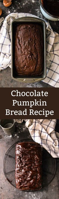 A standard pumpkin bread recipe gets a makeover with the addition of chocolate and drizzle. This is so moist and delicious!