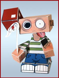 """Crazy Boy - HedKase"" papertoy by Castleforte"