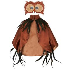 Kids' Owl Cape & Mask #Kids #costume #feather