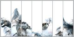 风动、水动、心动 7联 Wind、Water and the Heart 2009   Lu Jun Digital Ink   Link:  http://lujun.artron.net