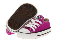 Converse Kids - Chuck Taylor® All Star® Ox (Infant/Toddler) 3 and 4 Baby Boots, Baby Girl Shoes, Girls Shoes, Purple Converse, Baby Converse, Baskets, Baby Girl Fashion, Toddler Fashion, Kids Sneakers