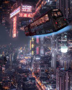 Bangkok cyberpunk reality 🌃👾 Shot by Cyberpunk City, Ville Cyberpunk, Cyberpunk Kunst, Cyberpunk Aesthetic, Futuristic City, City Aesthetic, Futuristic Architecture, Cyberpunk Fashion, City Wallpaper