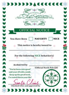 Our Elf on the Shelf Todd asked me to design him some report cards for Santa for our kids. Fun family project.