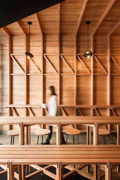 If you'd rather start (or in my case continue) your Monday with a hit of caffeine in a dark, albeit stylish cave then perhaps Abbots & Kinney by Adelaide-based architects studio-gram will help you eas