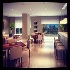 Perspectiva do Salão de Festas com Espaço Gourmet do Dimension Vila Olímpia #imoveis - @fraihaincorporadora- #webstagram