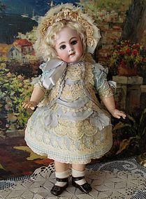 "Cotton Dress Bonnet fits 18"" Antique French or German Doll http://www.dollshopsunited.com/stores/antiquedollplace/items/1283963/Cotton-Dress-Bonnet-fits-18-19-French-Bebe-Doll"