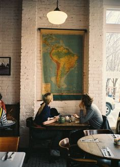 coffee shops, maps, couples :)