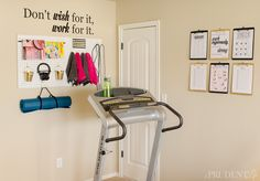 You Donu0027t Need A Ton Of Space To Create A Mini Gym At Home. Itu0027s Amazing  What You Can Fit Into One Corner! Click To See More Details.
