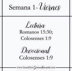 Lectura Viernes Semana 1 #AmaaDiosGrandemente #CreciendoenOracion #estudiobíblico #ADG #LGG