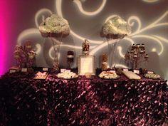 Fabulously elegant dessert buffet by Two Sweets Bake Shop