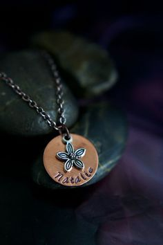 SALE  Personalized Jewelry  Flower Necklace  by DistinctlyIvy, $15.38