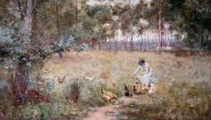 Discover the value of your art. Our database has art auction market prices for Frederick McCubbin, Australia and other Australian and New Zealand artists covering the last 40 years sales. Australian Painting, Australian Artists, Australian Vintage, Impressionist Artists, Vintage Artwork, Artist Painting, Landscape Paintings, Scenery, Pictures