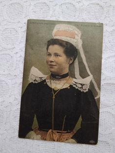 Antique Photos, Photo Postcards, Etsy Shipping, Small Flowers, Postcard Size, Headdress, Folklore, Lady, Costumes