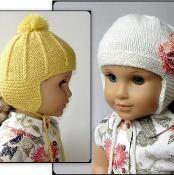 Marigold American Girl Doll Ear Flap Hat - via @Craftsy