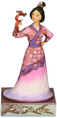 Jim Shore for Enesco Disney Traditions Mulan with Mushu Figurine, 7-Inch