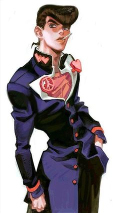 JoJo`s Bizarre Adventure Higashikata Josuke art Jojo's Bizarre Adventure Anime, Jojo Bizzare Adventure, Manga Anime, Anime Guys, Bizarre Art, Jojo Bizarre, Johnny Joestar, Arte Indie, Character Art