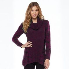 AB Studio Marled Cowlneck Sweater - Women's