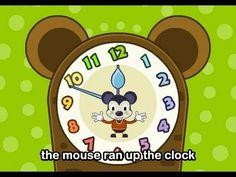 Muffin Songs - Hickory Dickory Dock   | nursery rhymes & children songs with… Hickory Dickory Dock, Children Songs, Nursery Rhymes, Kids Learning, Fairytale, Music Videos, Singing, Lyrics, Muffin