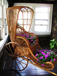 vintage wicker rickshaw by nine20nine on Etsy, $929.29